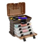 【プラノ】4段トレー付工具箱 グレー 小 V113540 135430