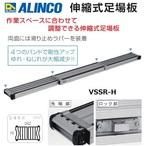 メーカー直送:代引不可【アルインコ】伸縮式足場板 両面滑り止めラバー付き VSSR-H